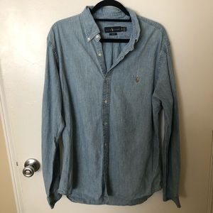Ralph Lauren Slim Fit Chambray Button Down Shirt